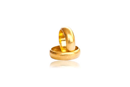 two gold rings. Stock Photo - 8823886