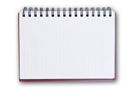 notebook cover: white paper of notebook