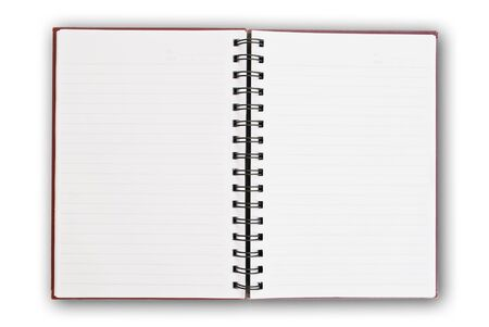 open notebook: white paper of notebook
