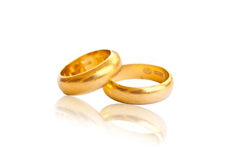 two gold rings. photo