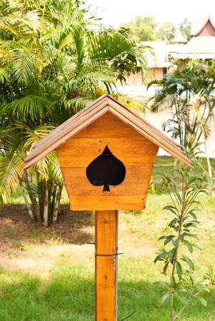 wood loudspeaker. photo