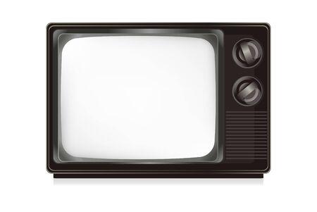 Télévision isoler sur le blanc.