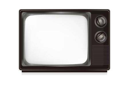 Television isolate on the white. Stock Photo - 8912278