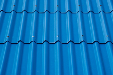 Blue roof texture. photo