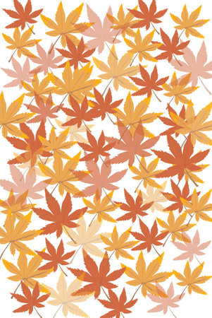 Brown leaf illustration background. illustration