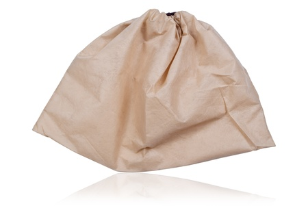 Beige bag isolate on the white. Stock Photo - 9132623