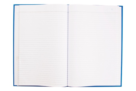 White notebook isolate on the white. Stock Photo - 9132700
