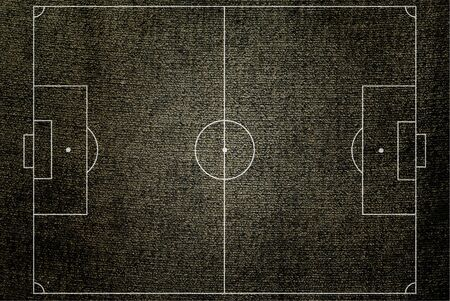 football pitch: Soccer field texture with old fabric.