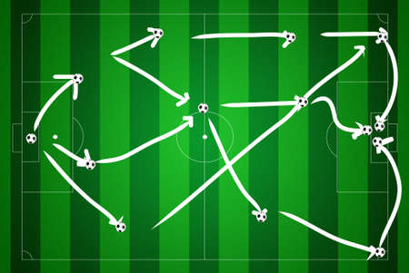 Soccer field with strategy. photo