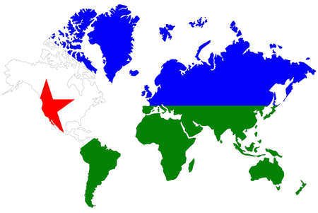 World map background with flag. Stock Photo - 9330629