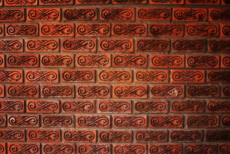 wall textures: Orange cement wall texture. Stock Photo