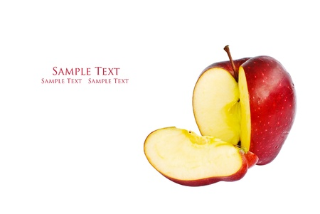 Fresh red apple isolate on the white. Stock Photo - 9377057