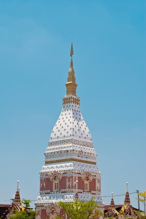 Thailand Buddha pagoda with the sky. photo