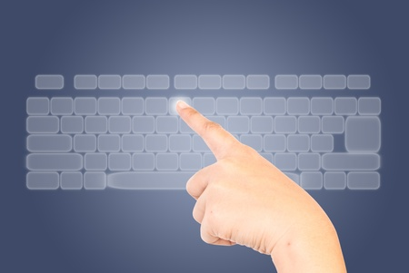 Hand pressing keyboard Stock Photo - 9954814