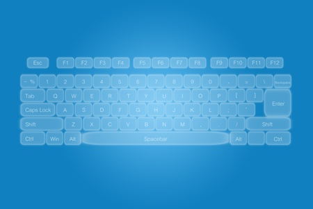 Keyboard template for computer. photo