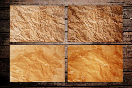 Vintage paper on the classic wood texture background. Stock Photo - 9954934