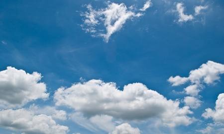 wispy: Cloud on the blue sky texture background. Stock Photo