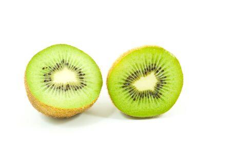 Kiwi healthy fruit isolated on the white. photo