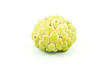 Thai fruit custard apple isolated on the white. Stock Photo - 10355916