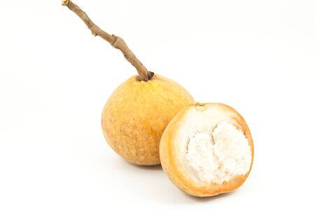 hemispherical: Orange Thai fruit isolated on the white background.
