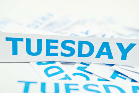 tuesday: Tuesday word texture background. Stock Photo