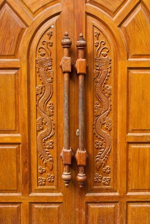 front entry: Wooden door texture background.