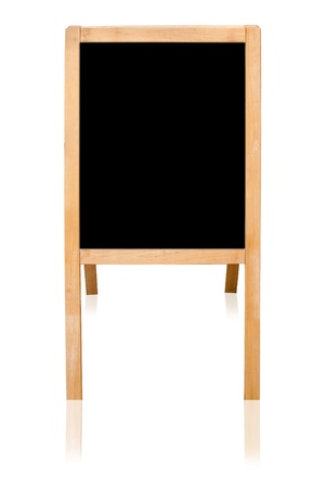 Black board isolated on the white background. photo