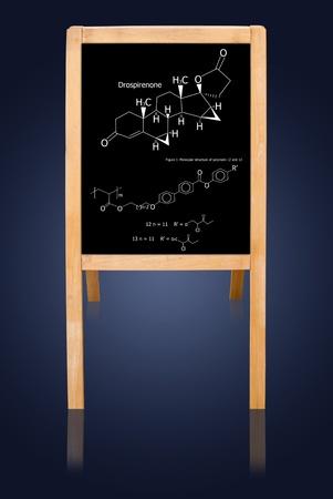 Black board and science formula. photo