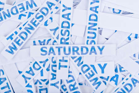 Saturday word texture background. photo