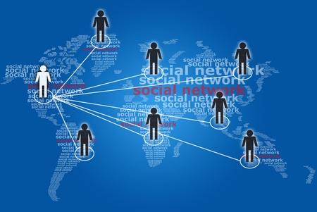 Social network communication word. photo
