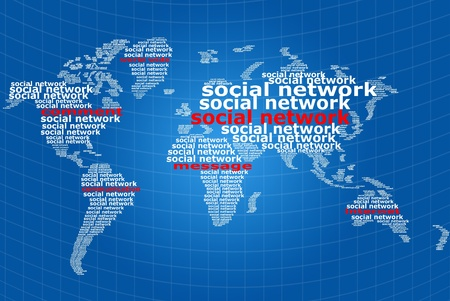 Social network communication word. photo