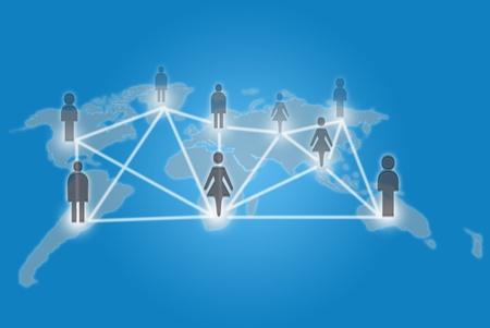 Social network communication. photo