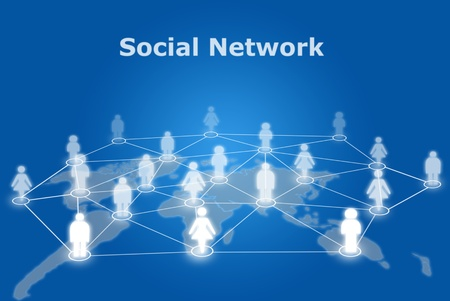 People social network communication. photo