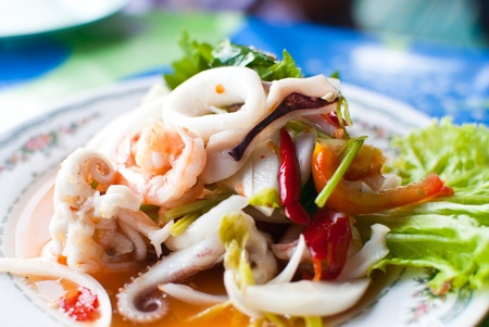 Thai Yum seafood. photo
