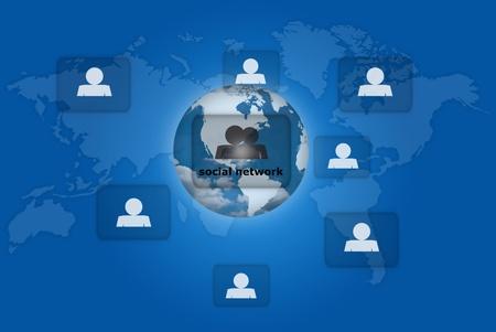 People social network communication. photo