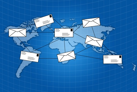 mail Social network communication. photo