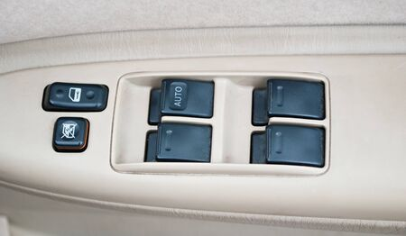 motor de carro: Interruptor en el coche para la ventana abierta.