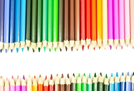 Colorful pencil texture background. photo
