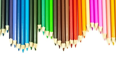 Colorful pencil texture background. Stock Photo - 11072115
