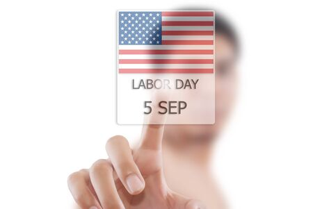 Asian businessman giving Labor day. photo