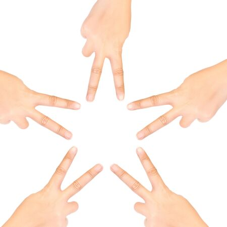 Hand star isolated symbol. photo