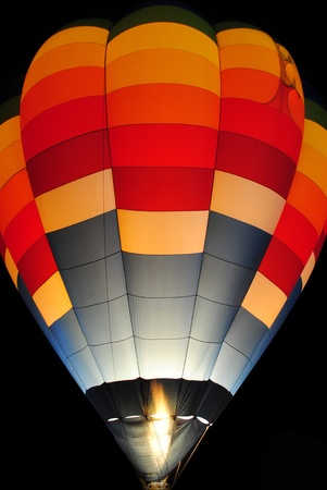 Hot air balloon at night. photo