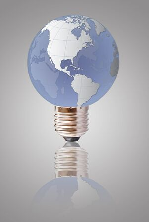 Light bulb globe isolated. photo