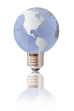 Light bulb globe isolated. photo