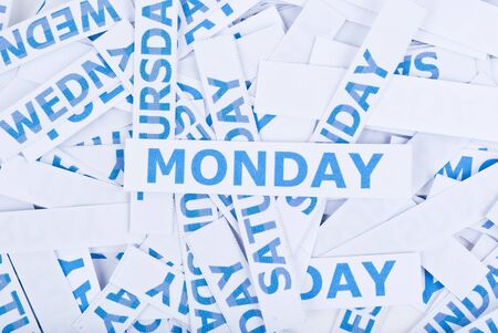 Monday word texture background. photo
