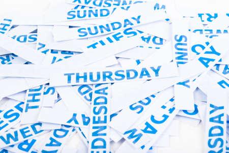 Thursday word texture background. Stock Photo - 11500821