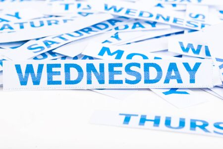 Wednesday word texture background. photo