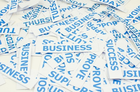 Business word texture background. photo