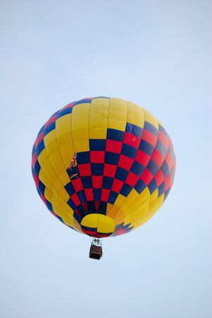 Hot air balloon on the sky. photo