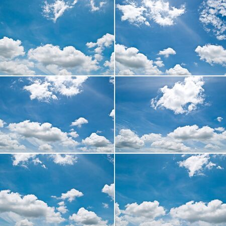 Daylight sky collection set. photo